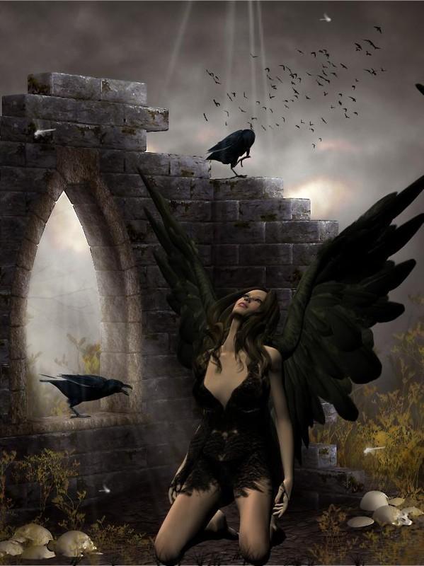 1fcde41e dans fond ecran ange noir