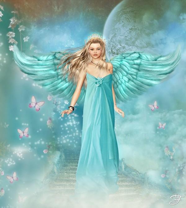 dans fond ecran anges bleus 6b497b74